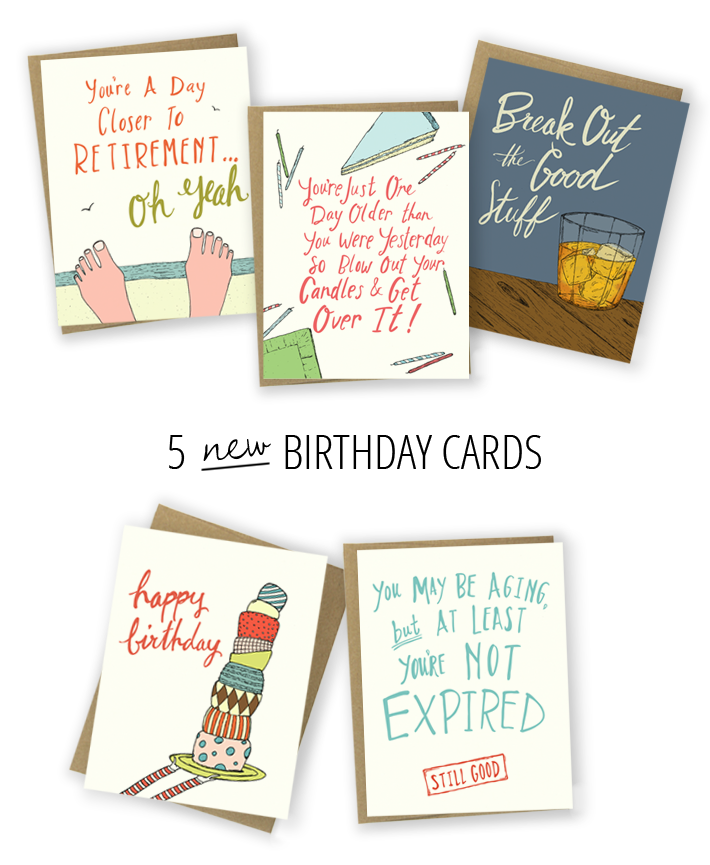 5 new birthday cards by hello small world