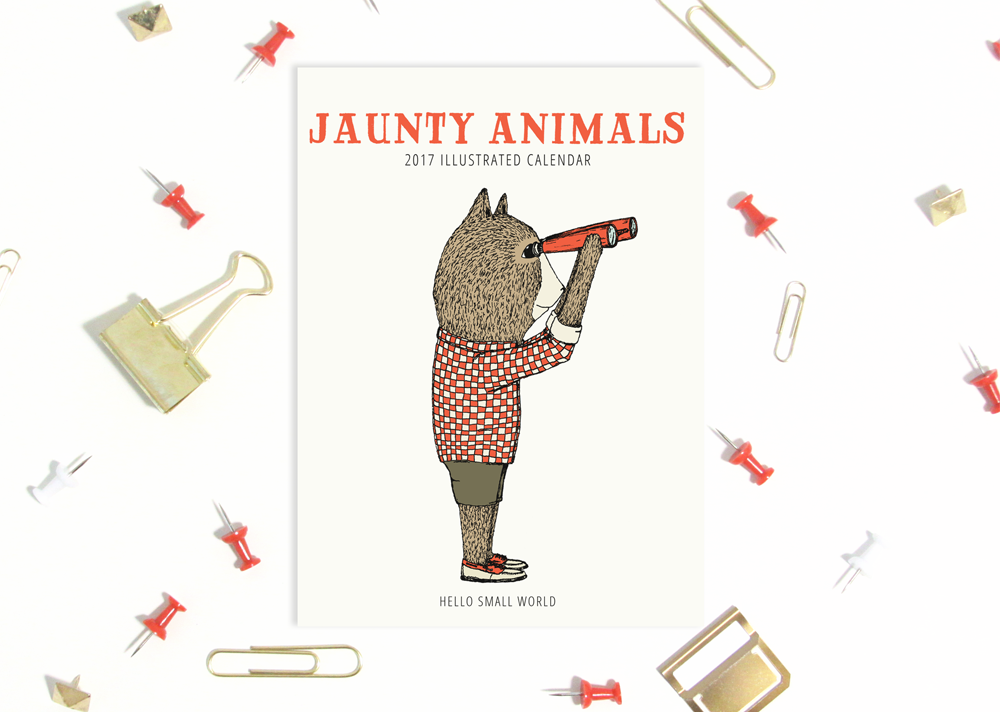 Jaunty Animals 2017 calendar from Hello Small World - Shop