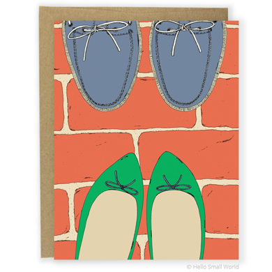 Green Flats and Boat Shoes Card