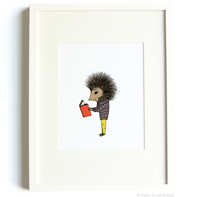 Reading Porcupine Print