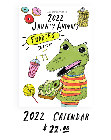 2019 Calendar - Jaunty Animals