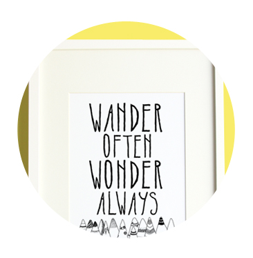 Shop Wander Often Wonder Always Prints